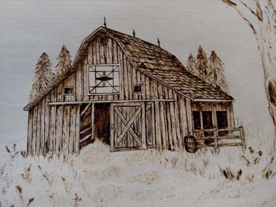 pyrography-barn